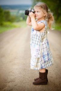 kind fotografeert