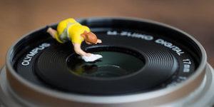 Lens schoonmaken