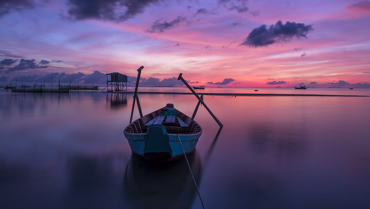 Blauwe uur zonsopkomst