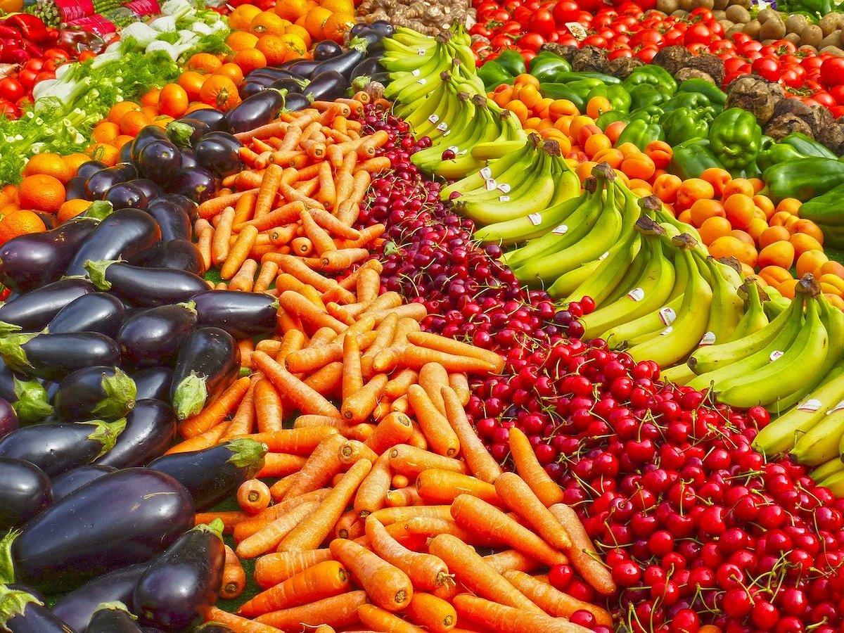 Markt groente en fruit