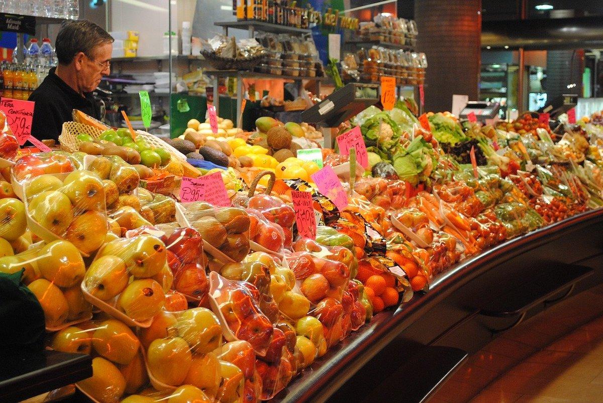 Verkoper markten fotograferen