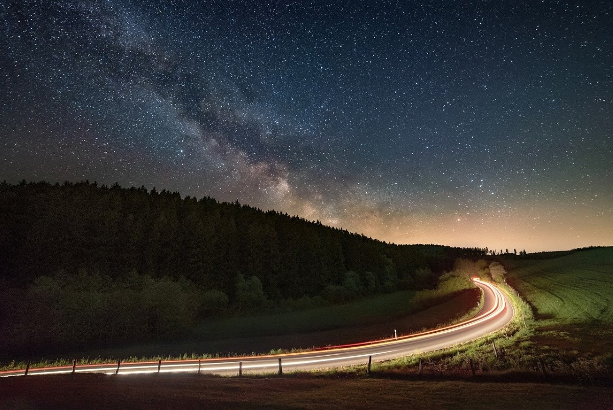 Autolichten sterren