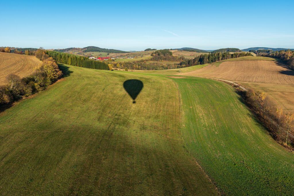 Uitzicht luchtballon