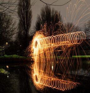 Staalwol lightpainting
