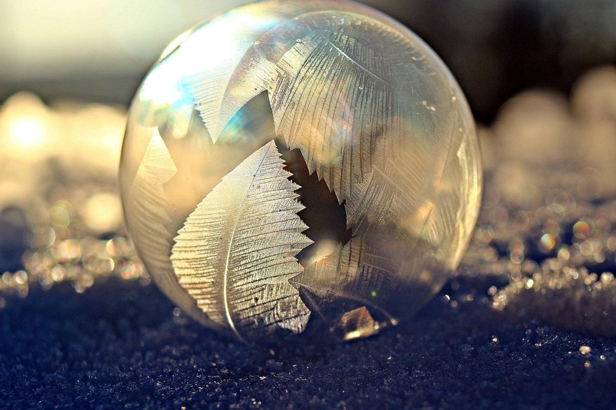Bevroren zeepbellen fotograferen