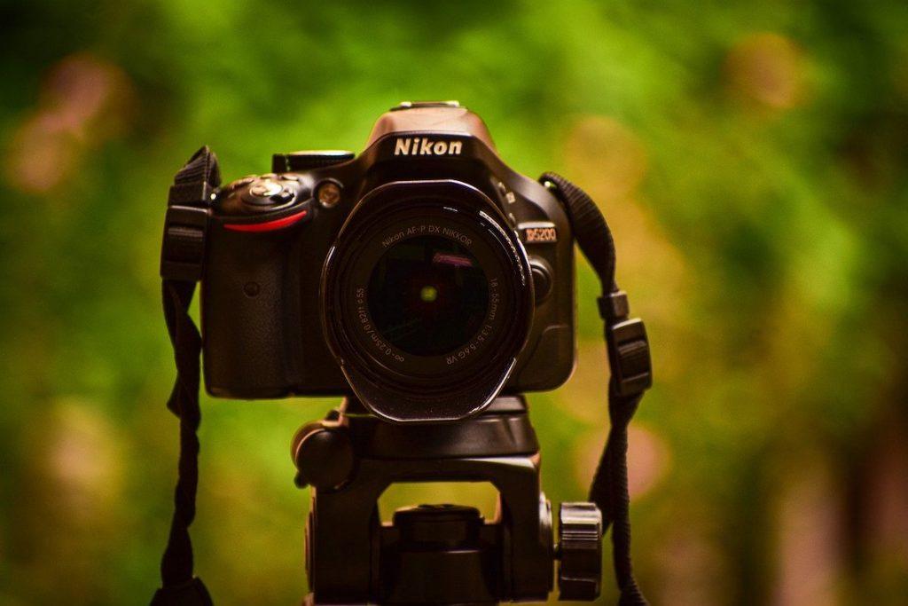 statief met camera